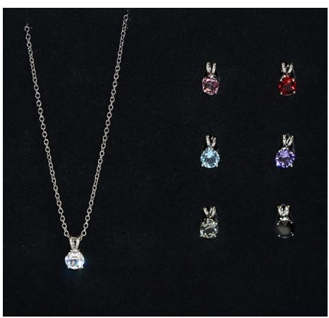 Ivanna Collection Zestaw naszyjnik z zawieszkami Simple Elegant