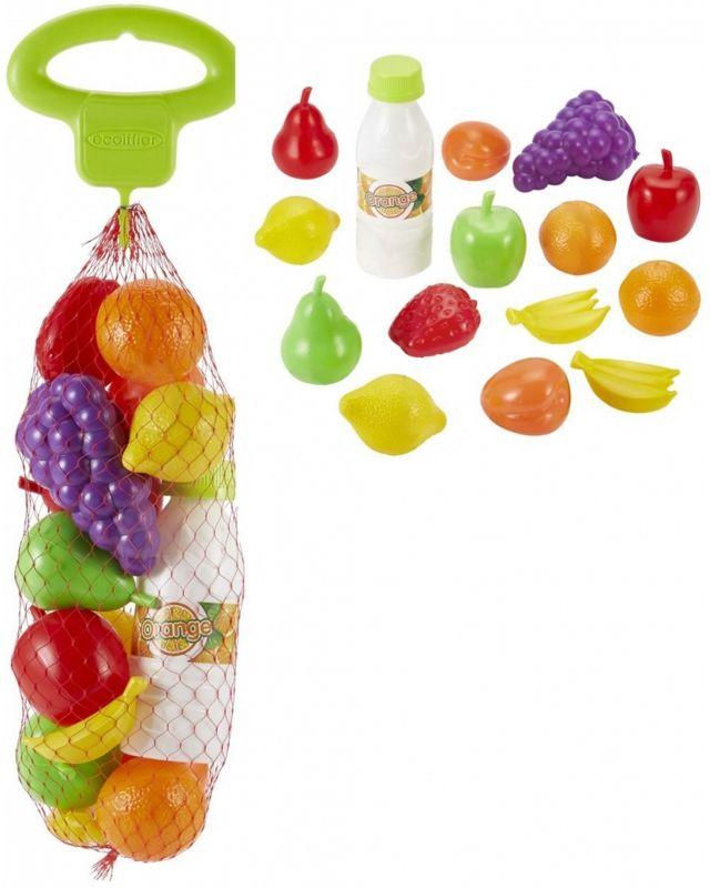 Ecoiffier Zestaw Produktów Spożywczych Owoce Warzywa w Siatce LK