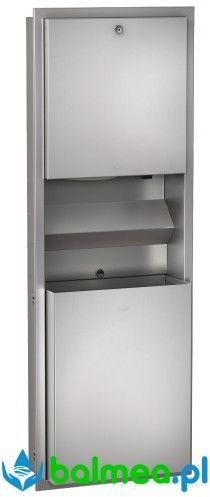Zestaw: Podtynkowy pojemnik na ręczniki, pojemnik na odpady oraz dozownik mydła ze stali nierdzewnej Franke Rodan