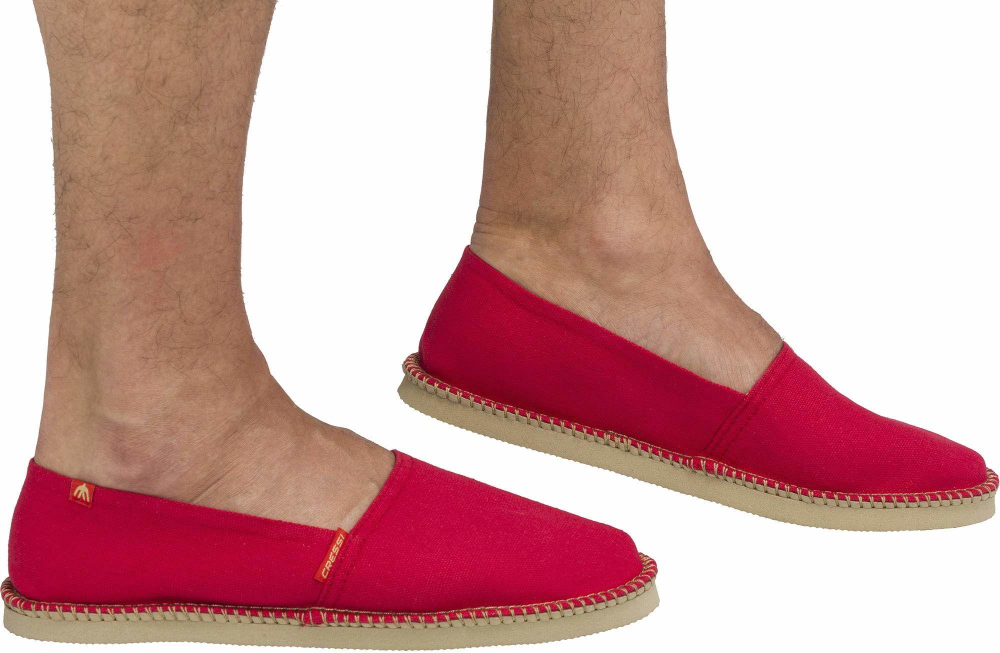 Cressi Unisex-Adult Valencia Espadrillas Wygodne i lekkie buty na każdy letni sport ,Czerwony ,46 ,XVB980446