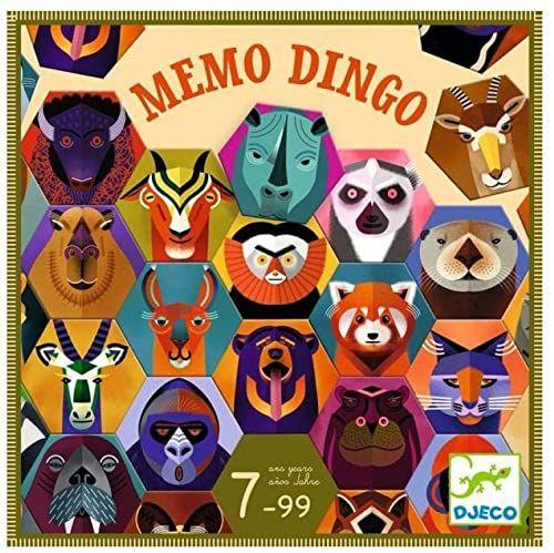 DJECO - Zestaw Memo Dingo do układania i wkładania (38538)