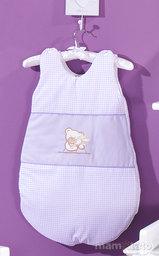 MAMO-TATO Śpiworek niemowlęcy haftowany Tulisie w fiolecie
