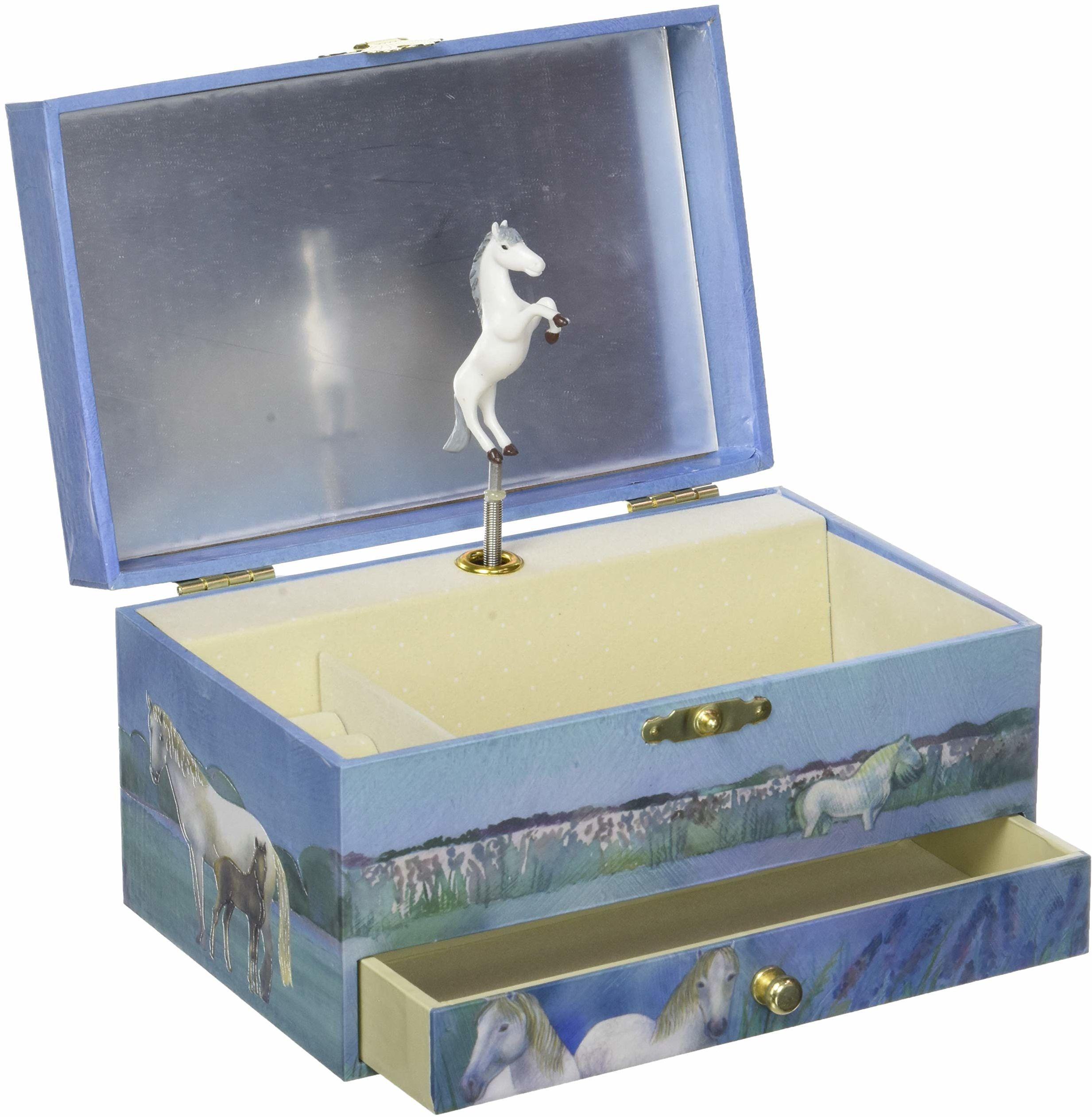 Trousselier TROUS60621 konie Camargue muzyczne pudełko na biżuterię