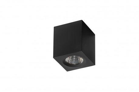 Plafon Nano square AZ2787 AZzardo sześcienna oprawa w kolorze czarnym