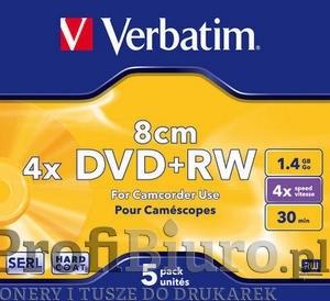 Płyty DVD+RW 1,4GB 4x - Jawel Case - 5 szt.