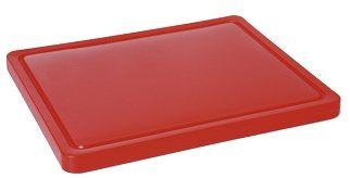Deska z polietylenu czerwona HACCP GN 1/1
