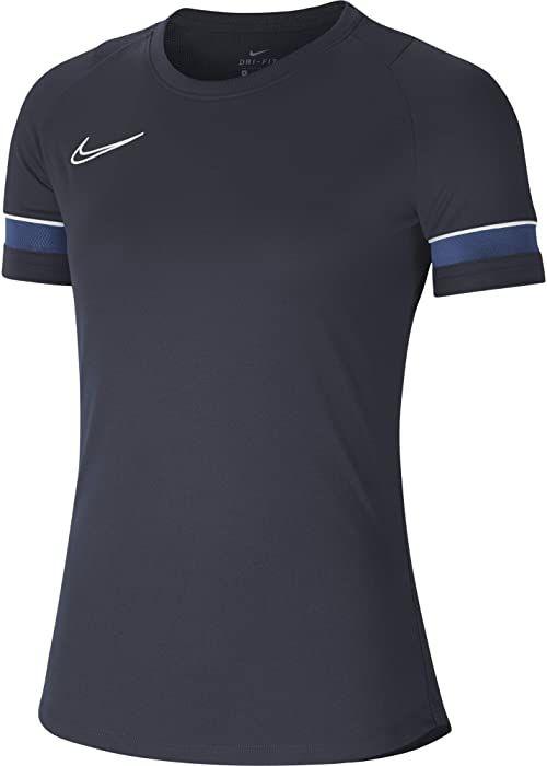 NIKE Damska koszulka W NK Dry ACD21 TOP SS, obsydian/biały/królewski niebieski/biały, XS
