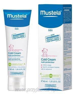 Mustela Krem Odżywczy z Cold Cream do twarzy dla skóry suchej 40 ml