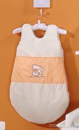 MAMO-TATO Śpiworek niemowlęcy haftowany Tulisie brzoskwiniowe