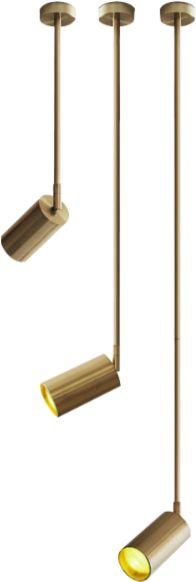 Brass Tube Long 90 - reflektor sufitowy ramię 90cm