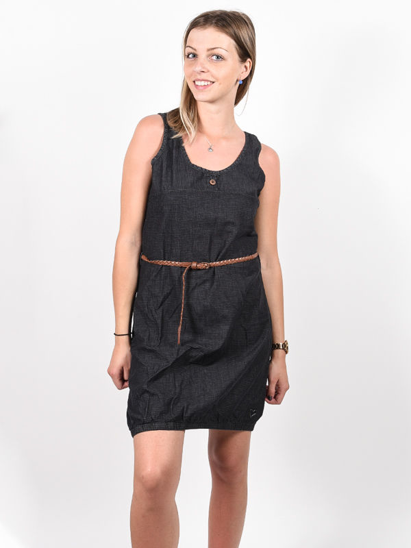 Alife and Kickin DOJAAK black denim krótkie sukienki