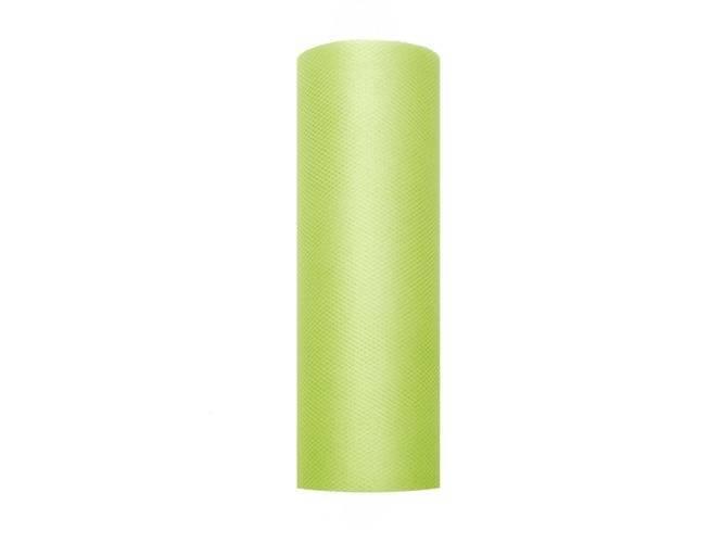 Tiul gładki jasnozielony - 15 cm x 9 metrów - 1 szt.