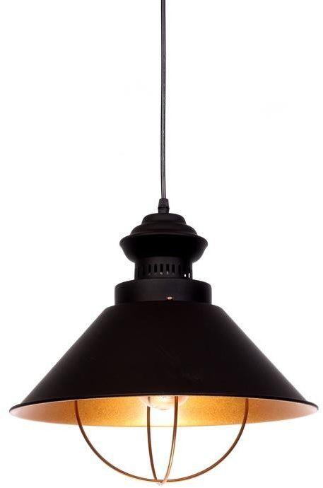 Lumina Deco Kugar industrialna loftowa czarna lampa wisząca
