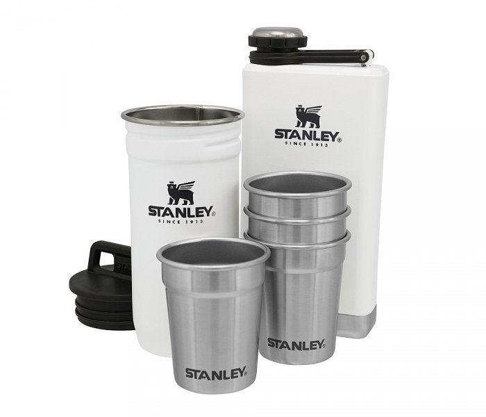 Zestaw STANLEY piersiówka Adventure Steel Shots + Flask Gift Set (biały)