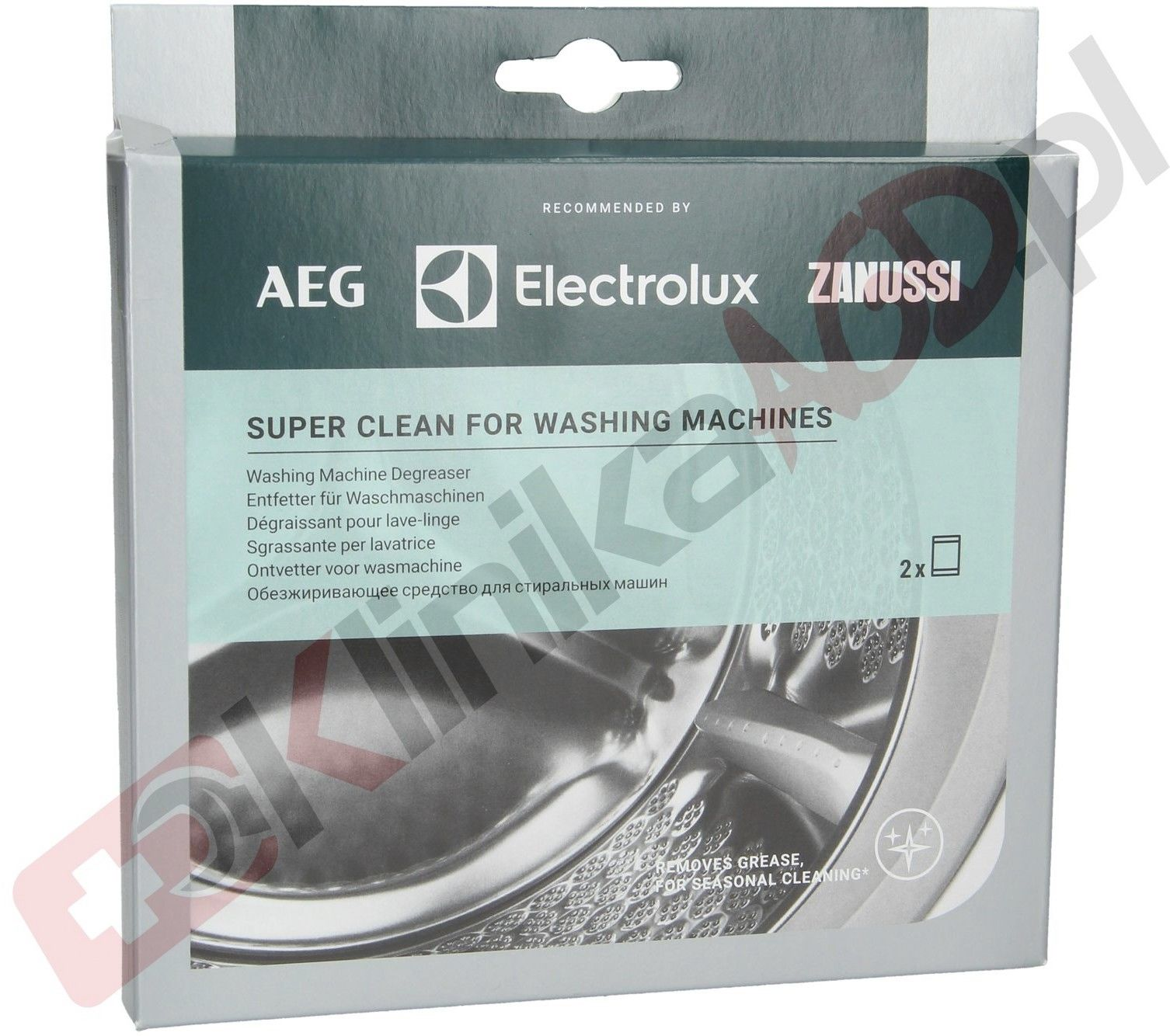 Środek czyszczący Electrolux super clean do pralki proszek 50g 2szt Zoppas