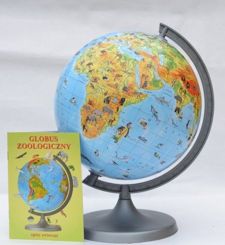Globus szkolny zoologiczny 220mm ZACHEM karton /33611/