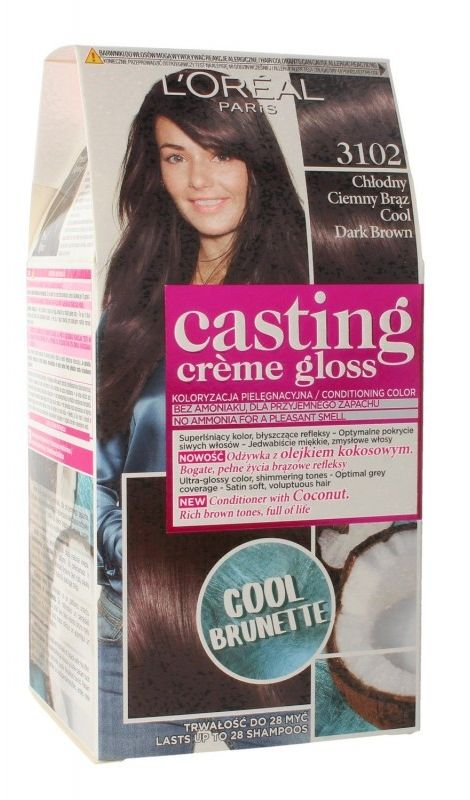 LOréal Paris Casting Crme Gloss farba do włosów odcień 3102 Iced Espresso