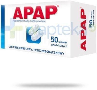 Apap 500mg 50 tabletek