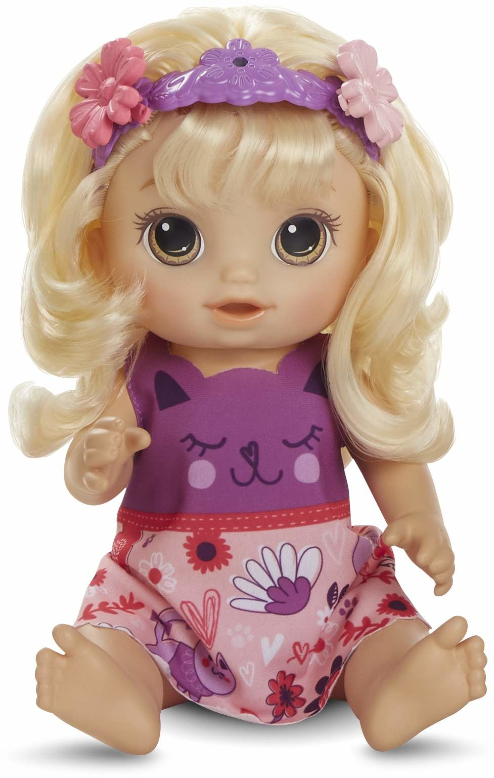 Hasbro Baby Alive magia włosów dla niemowląt z włosami blond, mówiąca lalka z włosami, które rosną i stają się krótsze, zabawka dla dzieci od 3 lat