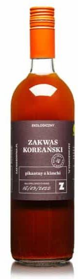 Zakwas koreański pikantny na bazie kimchi bezglutenowy bio 700 ml - zakwasownia