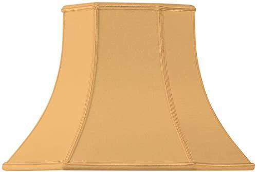 Klosz lampy w kształcie pagody, ścięty, 35 x 18 x 23,5 cm, żółty