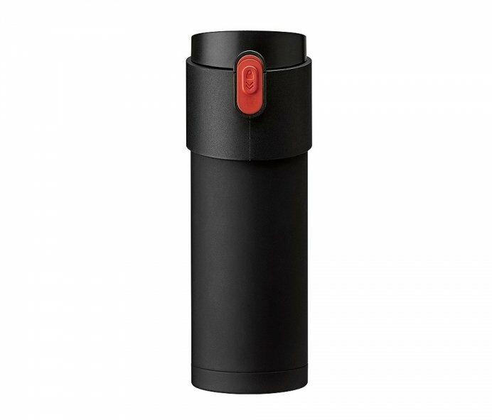 Kubek termiczny z zaparzaczem 350 ml PAO (czarny/czerwony)