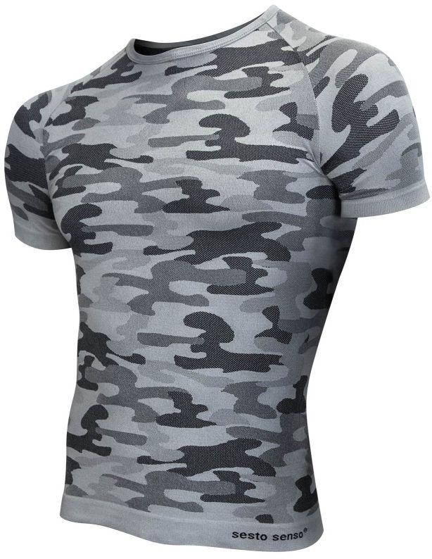 Koszulka termoaktywna Sesto Senso Thermo Active Urban Camo K/R (Popiel)