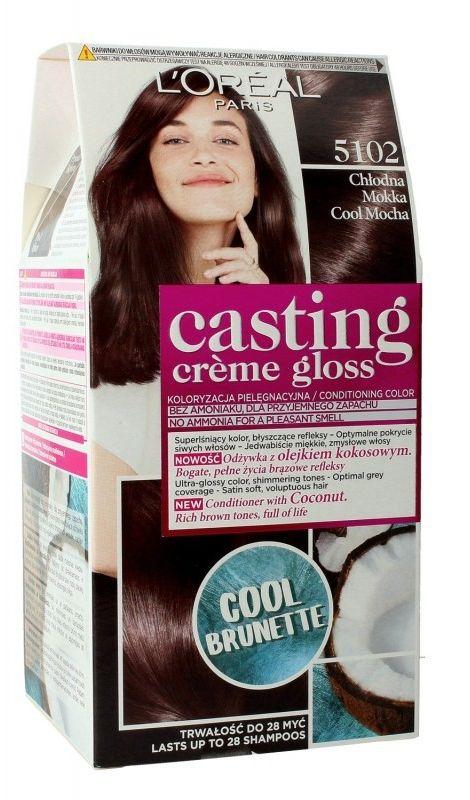 LOréal Paris Casting Crme Gloss farba do włosów odcień 5102 Iced Mocha