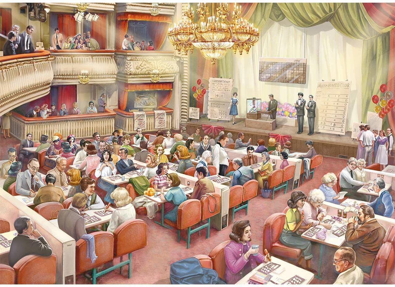 Jumbo Falcon de luxe The Bingo Hall 1000 sztuk puzzli