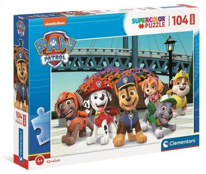 Puzzle 104 Maxi Super Kolor Psi Patrol 2 - Clementoni