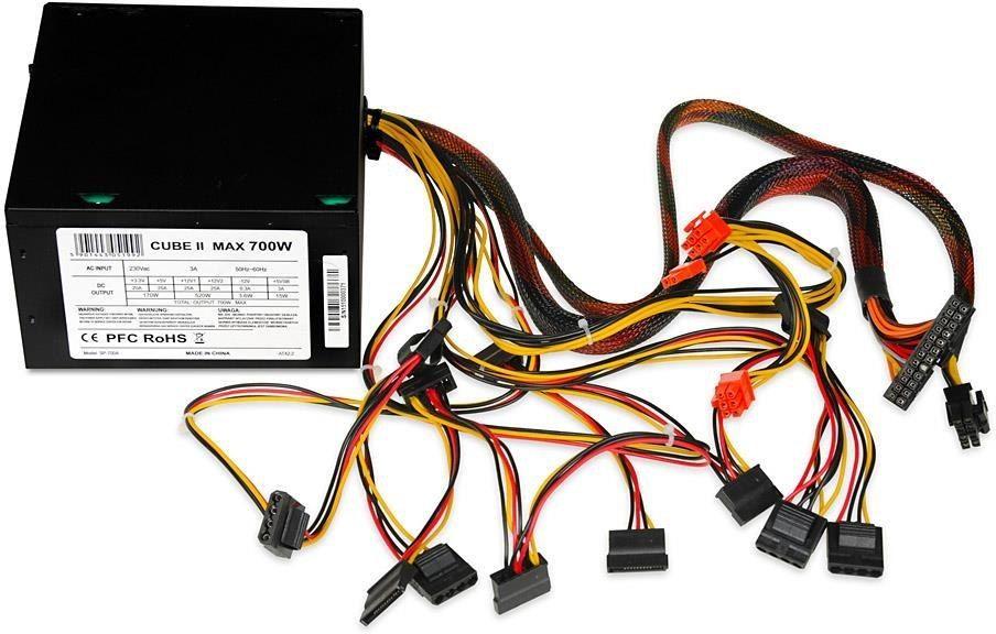 Zasilacz ATX iBOX CUBE II 700W APFC BLACK EDITION