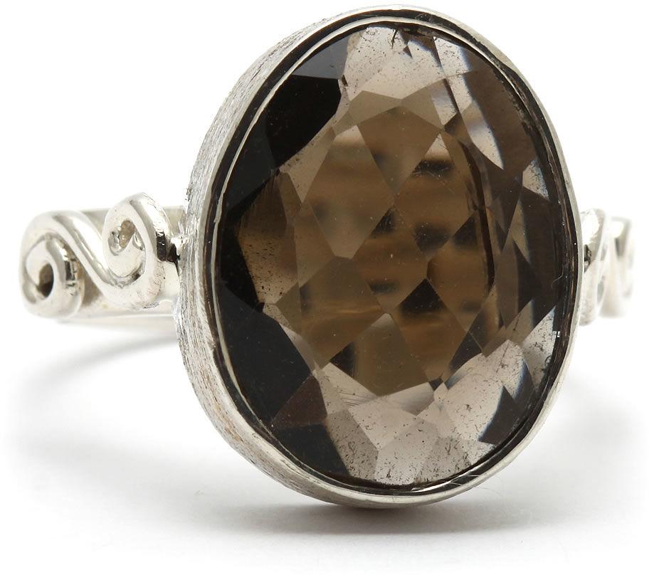 Kuźnia Srebra - Pierścionek srebrny, rozm. 12, Kwarc Dymny, 5g, model