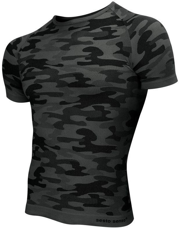 Koszulka termoaktywna Sesto Senso Thermo Active Dark Camo K/R (grafit)