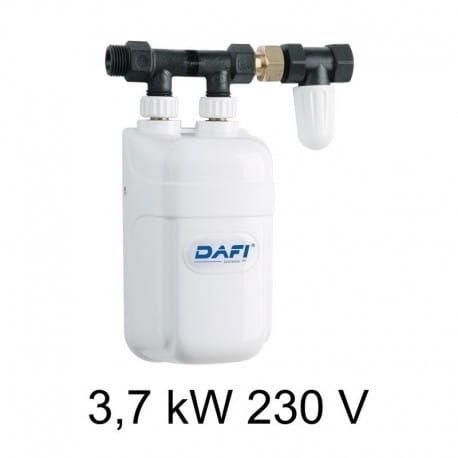 Elektryczny przepływowy ogrzewacz wody DAFI 3,7 kW z przyłączem