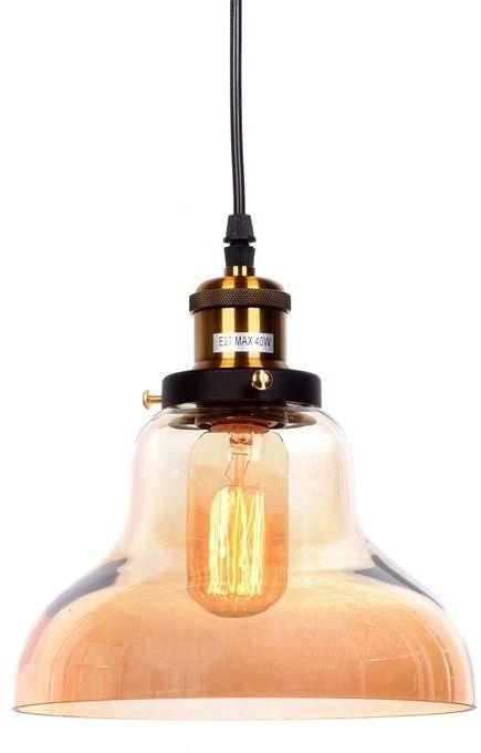 Lumina Deco Zubi loftowa bursztynowa lampa wisząca