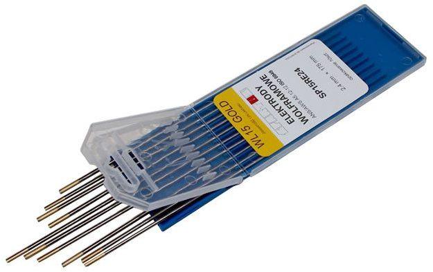 Elektroda wolframowa WL15 2,4x175 złota