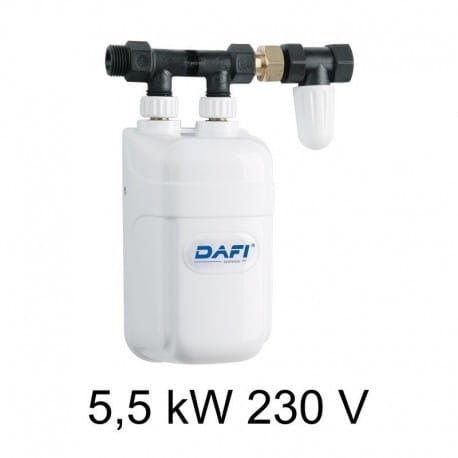 Elektryczny przepływowy ogrzewacz wody DAFI 5,5kW z przyłączem