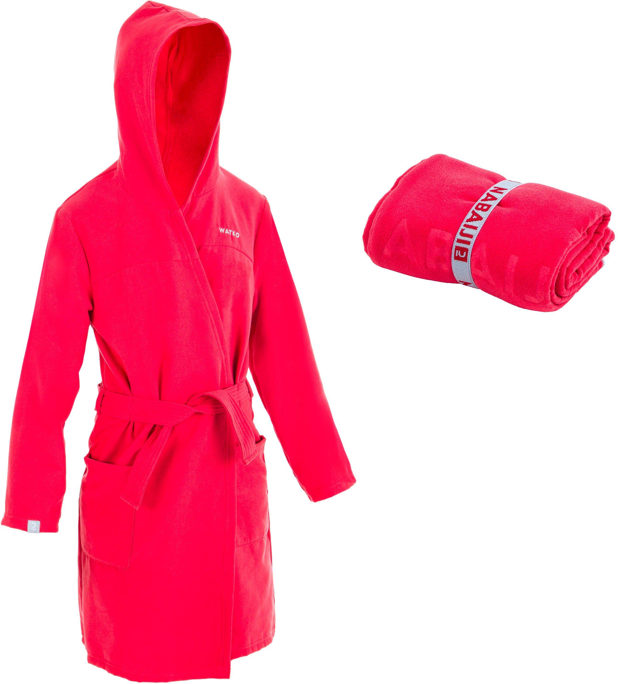 Zestaw Szlafrok + Ręcznik Z Mikrofibry L 80 X 130 Cm Dla Dzieci