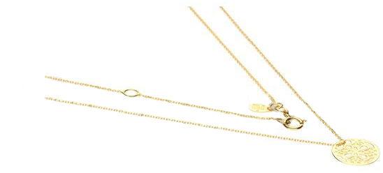Złoty naszyjnik 333 ażurowe koło 45 cm
