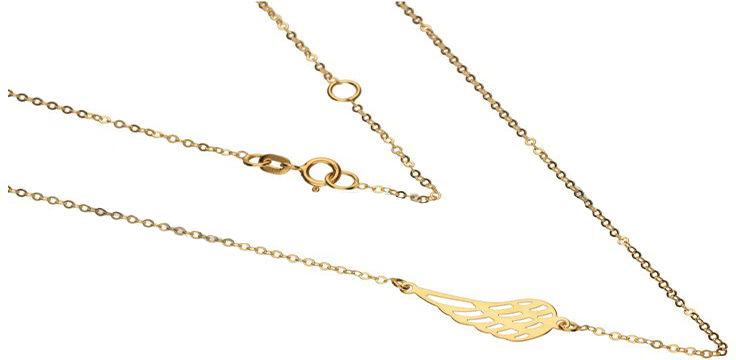 Złoty naszyjnik 333 ażurowe skrzydło 45 cm