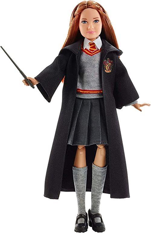 Harry Potter FYM53 , Ginny Weasley Lalka Kolekcjonerska (Wysokość: 25 Cm) Z Mundurkiem Hogwartu, Szatą Gryffindoru I Różdżką Fym53 ,kleurg morski