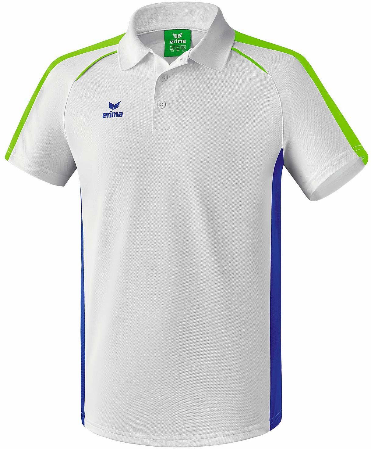 Erima męska koszulka polo Masters Polo  biała biały Weiß/Mazarine Blue S