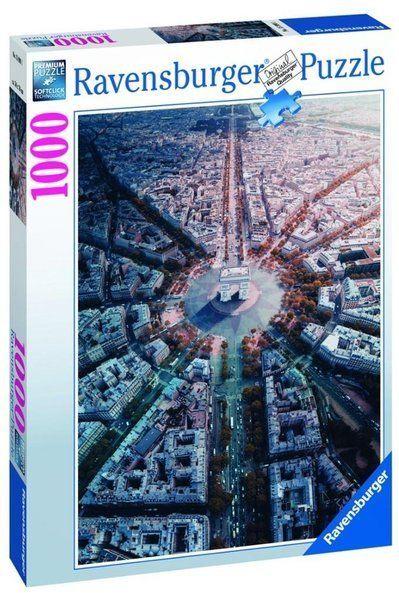 Puzzle 1000 Paryż z lotu ptaka - Ravensburger