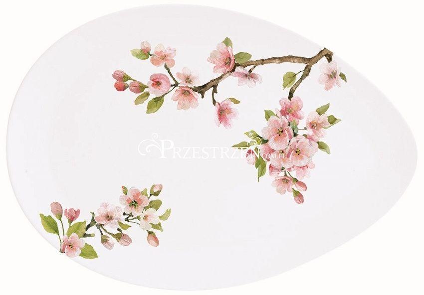 PORCELANOWY PÓŁMISEK - Sakura - Kwitnąca Wiśnia (1086 SAKU) mały