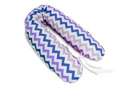 MAMO-TATO Poduszka dla ciężarnych kobiet Zygzak fiolet