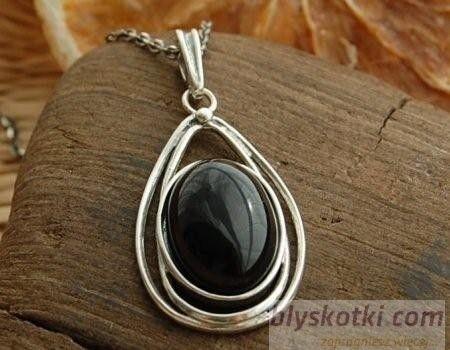 Duma - srebrny wisiorek z onyksem