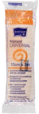 Bandaż elastyczny 10cm/4m , uniwersalny z zapinką Matopat Universal (niejałowy)