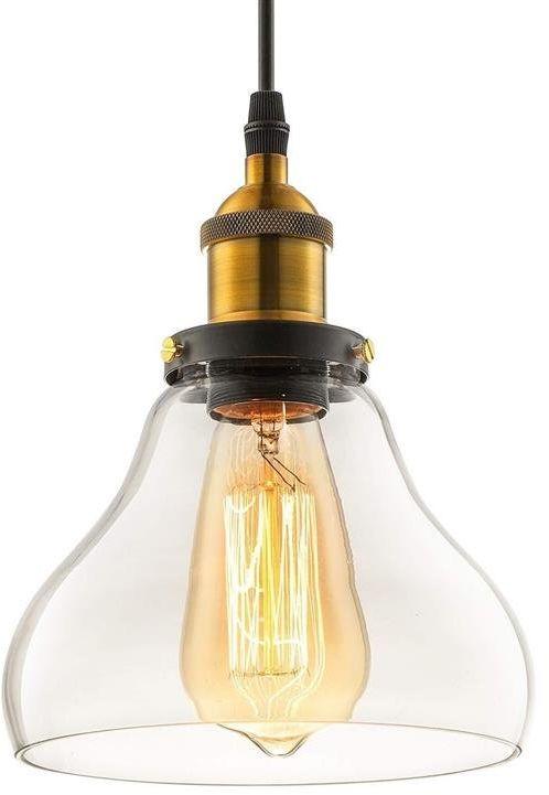Lumina Deco Zubi lofotwa przezroczysta lampa wisząca