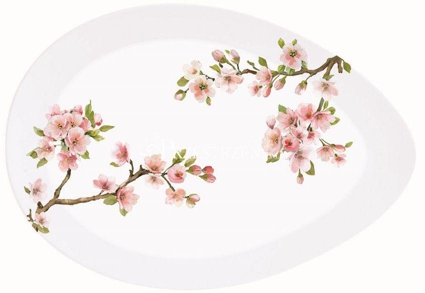 PORCELANOWY PÓŁMISEK - Sakura - Kwitnąca Wiśnia (1087 SAKU) DUŻY