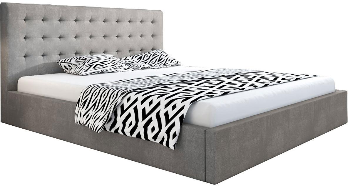 Tapicerowane łóżko dwuosobowe 140x200 Pikaro 3X - 48 kolorów